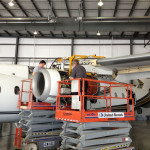 Dornier 328-300 engine inspection