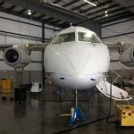 Dornier 328-300 on jacks